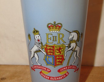Queen Elizabeth II Coronation Glass Dewsbury tumbler - Original from 1953