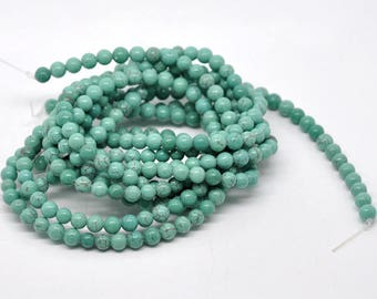 new 100 mix beads turquoise diameter 4, 6, 8mm