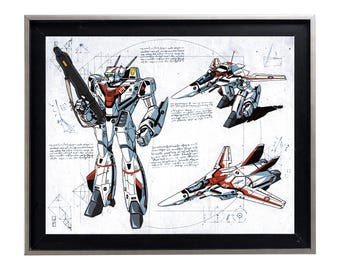 Codex Robotech vf-1 Rick Hunter print art matte poster anime 80's
