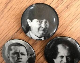 Vintage Three Stooges Pinbacks