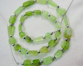 1 Strand Peridot Beads Size===9x7x6mm to 12x7x6mm