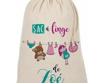Personalized with the name laundry bag