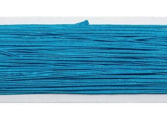 1 m soutache turquoise blue viscose 3 mm approx