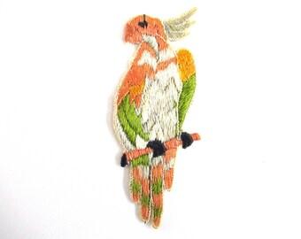 1930s Antique Bird Applique Vintage Patch Sewing Supply.  #6ADG9AK4
