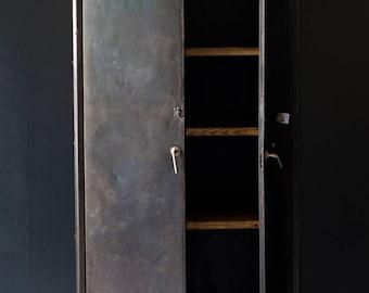 Vintage, industrial locker or cupboard