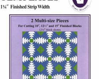 """Marti Michell Perfect Patchwork Templates Pineapple 1.25"""" Finished Strip Width"""