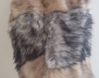 Designer Luxury Faux Fur Scarf