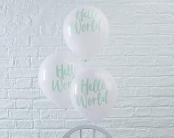 """Balloons """"Hello World"""""""