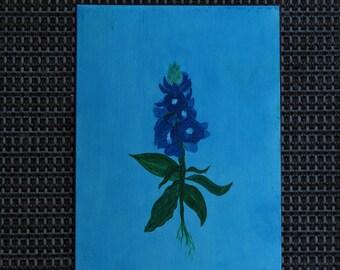 Blue Bonnet-wildflower-original painting-art