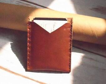 leather wallet, leather card holder, minimalist wallet, brown leather wallet, card holder, leather card case, slim wallet, mens wallet