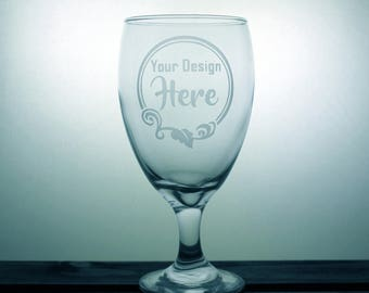 Your Design - Chalice - Beer - Gift Ideas - Gifts for Him - Gifts for Her - Corporate Gifts - Company Logo - Business Gift - Etched