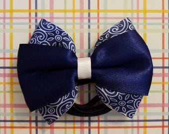Navy/white headband