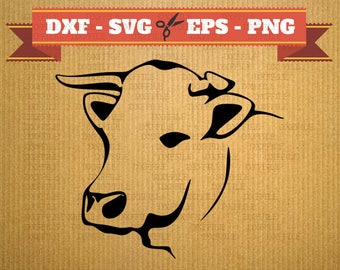 Cow DXF SVG Cnc files beef - digital cutting file, clipart, cricut, vector rotter, vector, DXF files, cnc, vinyl, laser Silhouette
