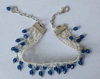 Lace bracelet and Bohemian beads.