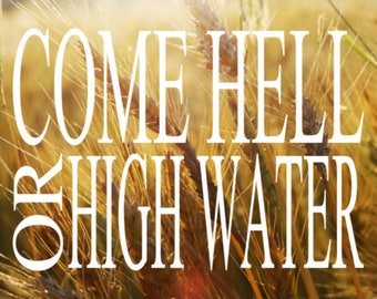 HURRICANE HARVEY RELIEF decals - Come Hell or High Water -