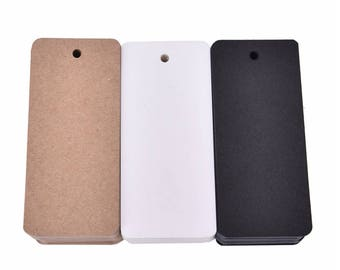 Blank Rectangle Kraft Card, Blank Card Stock, Gift Wrapping Card - PJ291