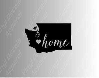 Washington home state die cut vinyl decal sticker for car, laptop, yeti decal, etc..