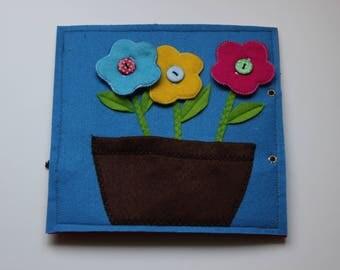 sensory book page