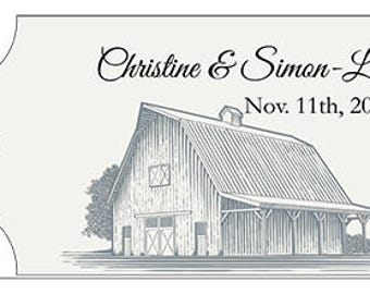 20 wedding gift tags - Personalized Names