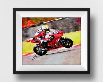 Motorcycle Gifts, Motorcycle Art, Motorbike Print, Motorcycle Racing, Race, Motorbike Gift, Biker Gifts, Biker Art, Kids Room (N318)