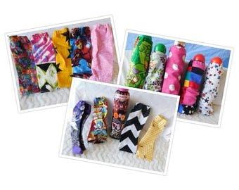 Handmade Cotton Bingo Dauber Covers  Set of 5 Sleeves Grab Bag Fun Beautiful Prints