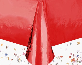 Red Table Cover | Metallic Red Table Cover | Red Party Decoration | Red Party Theme | Red Sheet