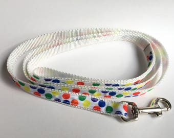 Party Polka Dot Leash - Small