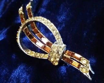 vintage glamorous deco brooch 60s