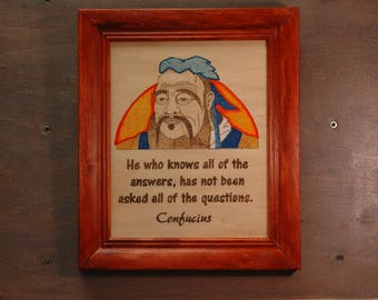 Confucius portrait and quote