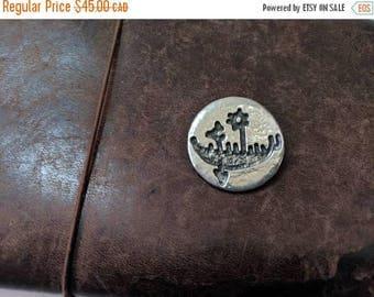 ON SALE Vintage Pewter Brooch