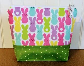 Sock Knitting Bag, Knitting Project Bag, Zippered Project Bag, Crochet Project Bag, Yarn Tote, Project Bag Zipper, Yarn Bowl