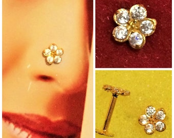 Nose Stud in Pure 18carat Hallmarked Yellow Gold