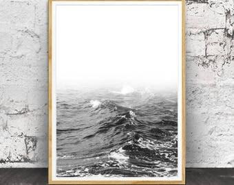 Ocean Decor, Beach Print, Ocean Print, Ocean Waves Print, Ocean Wall Art, Printable Art, Ocean Photography, Printable Digital, Printable Art