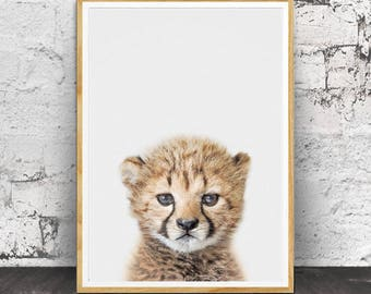 Cheetah Cub Print, Cheetah Print, Nursery Decor, African Animal, Nursery Wall Art, Safari Nursery Decor, Cheetah Wall Art, Safari Nursery