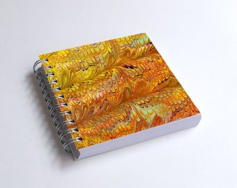 "Notebook 4x4"" decorated with motifs of marbled papers - 16"