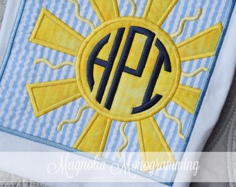 Monogrammed Sunshine Applique Shirt