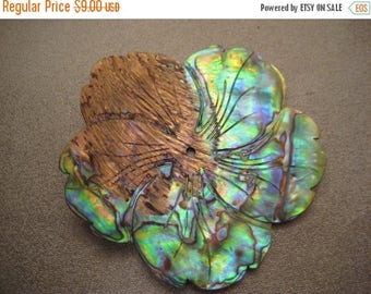 ON SALE 15% OFF New Zealand Abalone Shells Center Drilled Pendant Bead 1pc 62mm