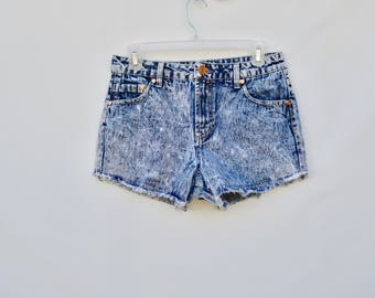 cut off jean shorts /  medium