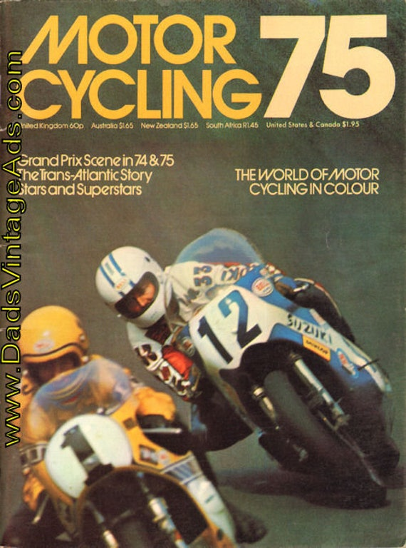 1975 Motorcycling 75 - - The World of Motorcycling in Colour Book #mb554