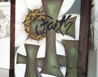 Christian Home Decor, Christian Home Signs, Faith Home Decor, Daisy Art Home  Decor