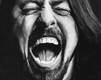 Dave Grohl A2 Drawing