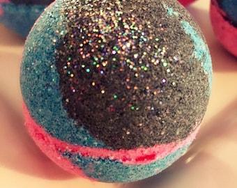 Bath Bomb & Bubble bar/Galaxy far far away bath bomb and bubble bath bomb/5oz/Handmade organic Bubble bath bomb/Christmas bubble bar