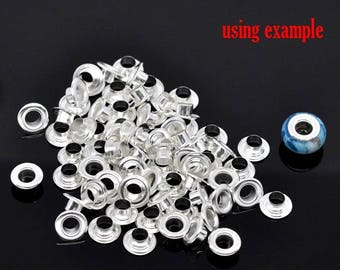 Set of 10 core aluminum glass CHARMS beads
