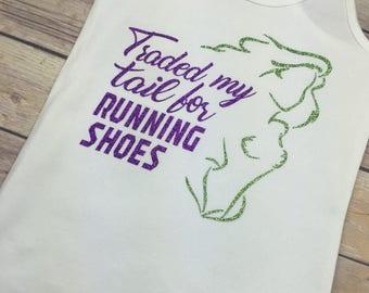 Disney Running Shirt | Run Disney | Mermaid Shirt | Mermaid Running Shirt | Racerback Tank Top | Workout Tank | Womens Gym Tank Top