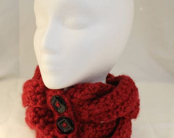 Four Braid Cowl - Red