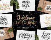 Christmas SVG bundle, Christmas SVG file, Christmas clipart, Hand lettered svg, Merry Chrsitmas Svg, Winter svg, Silhouette & Cameo
