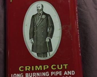Prince Albert crimp cut vintage tin can