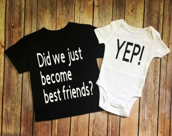 Did we just become best friends? Yep! Matching Tees. Best Friends.