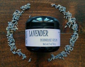 Lavender Deodorant Cream by A&A Soaps - baking soda free deodorant - sensitive skin - pit paste - vegan deodorant - aluminum free deodorant