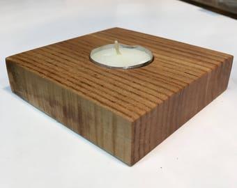 Ash Tea Light Candle Holder